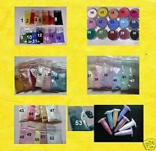 15 Mini-Pigmente f. Farbgel & Acryl, Wahl aus 53 Pigmenten Perlglanz Farbpigment