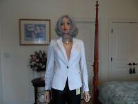 White House Black Market White Front Button Blazer/Jacket Size 6