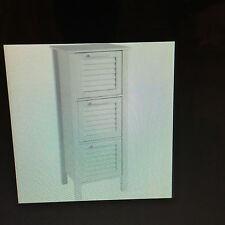 Living Slatted 3 Drawer Storage Unit - White