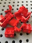LEGO Red Bracket 1x2 - 2x2 Angle Plate Bricks New Lot Of 12