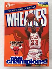 Michael Jordan Wheaties Full Cereal Box Chicago Bulls 1996 Champions NBA Finals