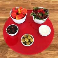 Round Serving Mats, Centerpiece / Table Protectors in Red Acrylic
