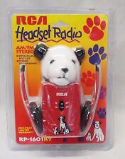Vintage 1990s RCA AM/FM Stereo HEADSET RADIO w/ Chipper Nipper PLUSH TOY NOS