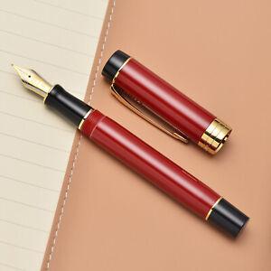 Jinhao 100 Centennial Dark Red Resin Fountain Pen EF/F/M/ Bent Nib Writing Pen