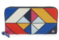 NWT Authentic TORY BURCH Diamond Stitch Zip Continental Wallet Multicolor $250