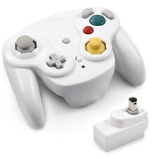 White Wireless Gamecube Controller With Adapter Wavebird for Nintendo Wii GC NGC