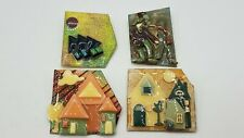 House Pins by Lucinda 4pc Brooch Pin Lot TT085