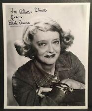 Bette Davis Hand Signed Autographed Original 8x10 Portrait Photo