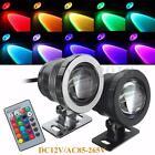 10W RGB LED Light Fountain Pool Pond Spotlight Underwater Waterproof 85-265V/12V