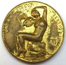 Vintage Zodiac Medallion - Virgo - You Are a Loyal Friend - Lucky Numbers 4-5