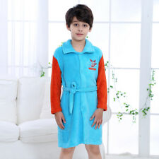 Soft Comfortable Flannel Fleece Warm Bathrobe Nightwear for Kids Boys Girls 120