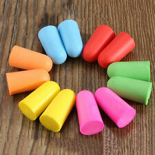 10 Pairs Soft Foam Ear Plugs Tapered Travel Sleep Noise Prevention Earplugs