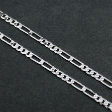 "30"" 3mm 4 x 2  SILVER EP FIGARO NECKLACE CHAIN"
