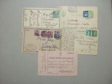 Five old postal stationery :Germany,Hungary Feldpost,Romania,Swiss,au stria