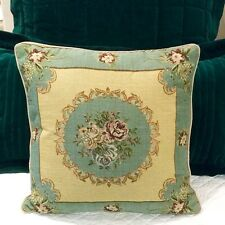 "Country Roses Tapestry Cushion / Pillow Cover Sham 45cm 17.5"" Square New"