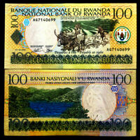 Rwanda Africa 100 Francs Banknote World Paper Money UNC Currency Bill Note