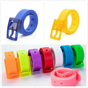 Clearance Rubber Jelly Silicone Casual Belt With Buckle Cut to Fit NoMetal Candy