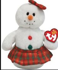Ty Beanie Babies Beanies Holiday Christmas Coolstina the Snowman - New With Tag