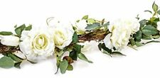 Country Baskets Artificial Roses Garland, Cream