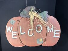 Fall Thanksgiving Interior Outdoor Front Or Back Door Decoration Pumpkin Welcome
