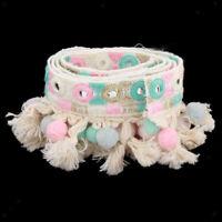 1 Yard Boho Ethnic Tassel Embroidery Trim Jacquard Lace Ribbon Clothes Decor