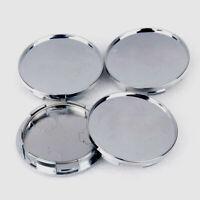4Pcs/Set 68mm Universal Car Wheel Center Hub Caps Covers Set Chrome Silver