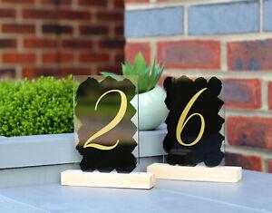 Acrylic SIGN Table NUMBERS 10 x 15 cm, A6 wedding decor birthday restaurant cafe