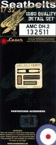 HGW 1/32 AMC DH.2 Seat Belts (Laser) # 132511