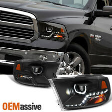 Fits [Mono-Eye Technology] 09-18 Ram 1500/2500/3500 Halo LED Black Headlights