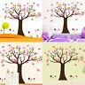 Cute Butterfly Owl Bird Tree Branch Removable Vinyl Art Kids Decor Wall Sticker