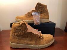 cf713b85f18266 2017 Nike Air Jordan Retro 1 High OG SZ 11 Wheat Golden Harvest Flax 555088-