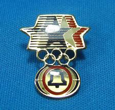 Bell Telephone Red Blue Star Olympic Rings Advertising Lapel Pin Pinback LA 1984