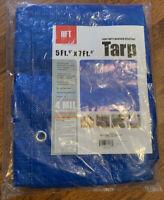 5  x 7 Blue All Purpose Weather Resistant Light Duty Tarp Waterproof Grommets