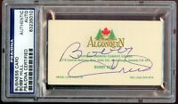 Bobby Hull signed autograph auto Business Card Hockey HOF'er PSA Slabbed