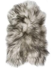 Lambland Genuine Large Icelandic Sheepskin Rug in Dark Duo Colours - Size Single