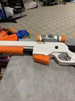 Nintendo Wii  Top Shot Elite Rifle w/ Red Lens Scope, Clip, & Stock