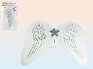Engelsflügel Engel Flügel mit Glitzer Kostüm Mädchen weiß