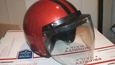 Vintage Cycraft Motorcycle Helmet Orange Metal Flake Bubble CY-1A Size Large