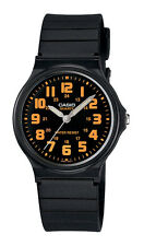 Casio MQ71-4B Unisex Black Resin Band Classic Orange Numbers Dial Analog Watch