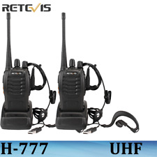 2XRetevis H-777 Walkie Talkie UHF 16CH 5W Two Way Radio long range rechargeable