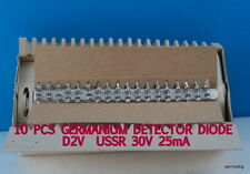 10 PCS D2V  /Д2В / USSR GERMANIUM  DETECTOR DIODE  30V 25mA  RARE