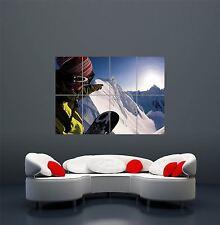 Jake Blauvelt Snowboard Snowboard Esquí arte cartel impresión WA430 gigante de color
