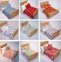 Dolls House Bedding Set 1/12- Handmade-Bed-Double size-Group 7 / New 29.6.19