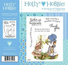 New Holly Hobbie Unmounted Rubber Stamp A Bouquet of Happiness