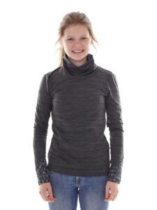 Brunotti Fleece Pullover Function Top Turtleneck Grey Hally Mottled