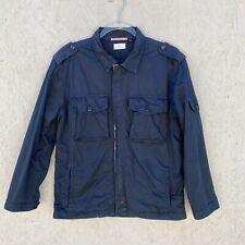 Apolis Global Citizen Archive Utility Military Zip Front Jacket XS Navy Blue