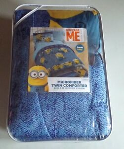 Despicable Me Minion Made Twin Microfiber Comforter 64 in by 86 in NEW