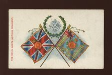 Military ROYAL SCOTS Lothian Regiment Flags pre1919 PPC