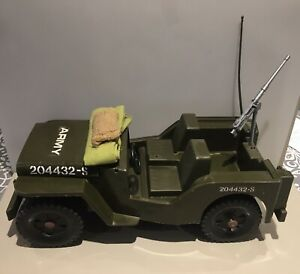 Vintage Cherilea Action Man 1980's Willy's Army Jeep