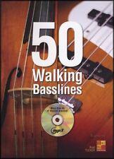 50 Walking Basslines TAB Music Book & MP3-CD Bass Guitar or Double Bass